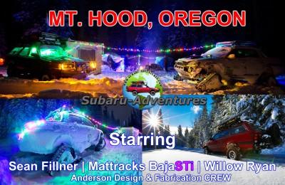 Subaru-Adventures | ADF | Mattracks BajaSTi | Winter on Mt. Hood Oregon