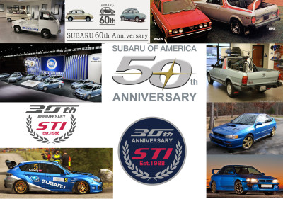 Year of 2018: 10 - 20 - 30 - 40 - 50 - 60 Year Anniversary of Subaru Events