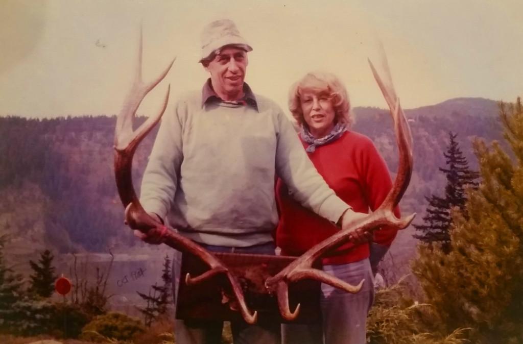 Merle and Sophie October 1984 Hood River